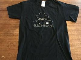 GANGSTA RAP HIP HOP-BLACK-T SHIRT-small - $9.49
