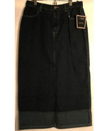 NEW Riveted by Lee Jean Skirt Juniors 12P Cajun Dark Denim - $19.59