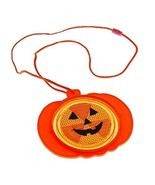 Pumpkin Reflector Necklace - Halloween Party Supplies - £9.22 GBP