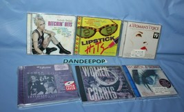 6 Assorted Women's hits, Top Of The Charts Hits Fantastic Femmes Music CD's - $39.59