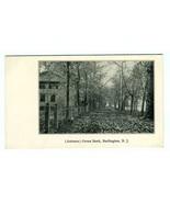 Autumn Green Bank Undivided Back Postcard Burlington New Jersey - $17.87
