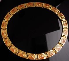 Vintage Cleopatra necklace - gold & Enamel statement collar - Goddess je... - $75.00