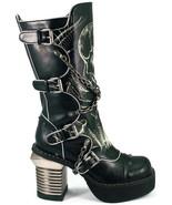 Hades SPAWN Black Knee Boots Glow in Dark SKULL Metal Heels Buckles Punk... - $156.60