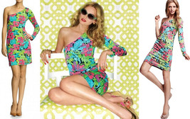 Lilly Pulitzer Whitaker One Shoulder Skip On It Floral Silk Jersey Dress... - $157.50