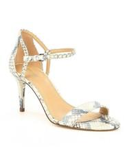 MICHAEL Michael Kors Simone Embossed Snake Print Mid Dress Sandals Size 7.5 - $84.99