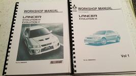 Mitsubishi Lancer Evo Iv / V / Vi Workshop Manual Reprinted - $53.53