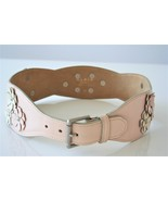 Azzedine Alaia Vintage Pink Flower 80s Belt - $290.00