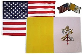 ALBATROS USA with Vatican City Country 3 ft x 5 ft 3x5 Flag with Lapel P... - $31.01