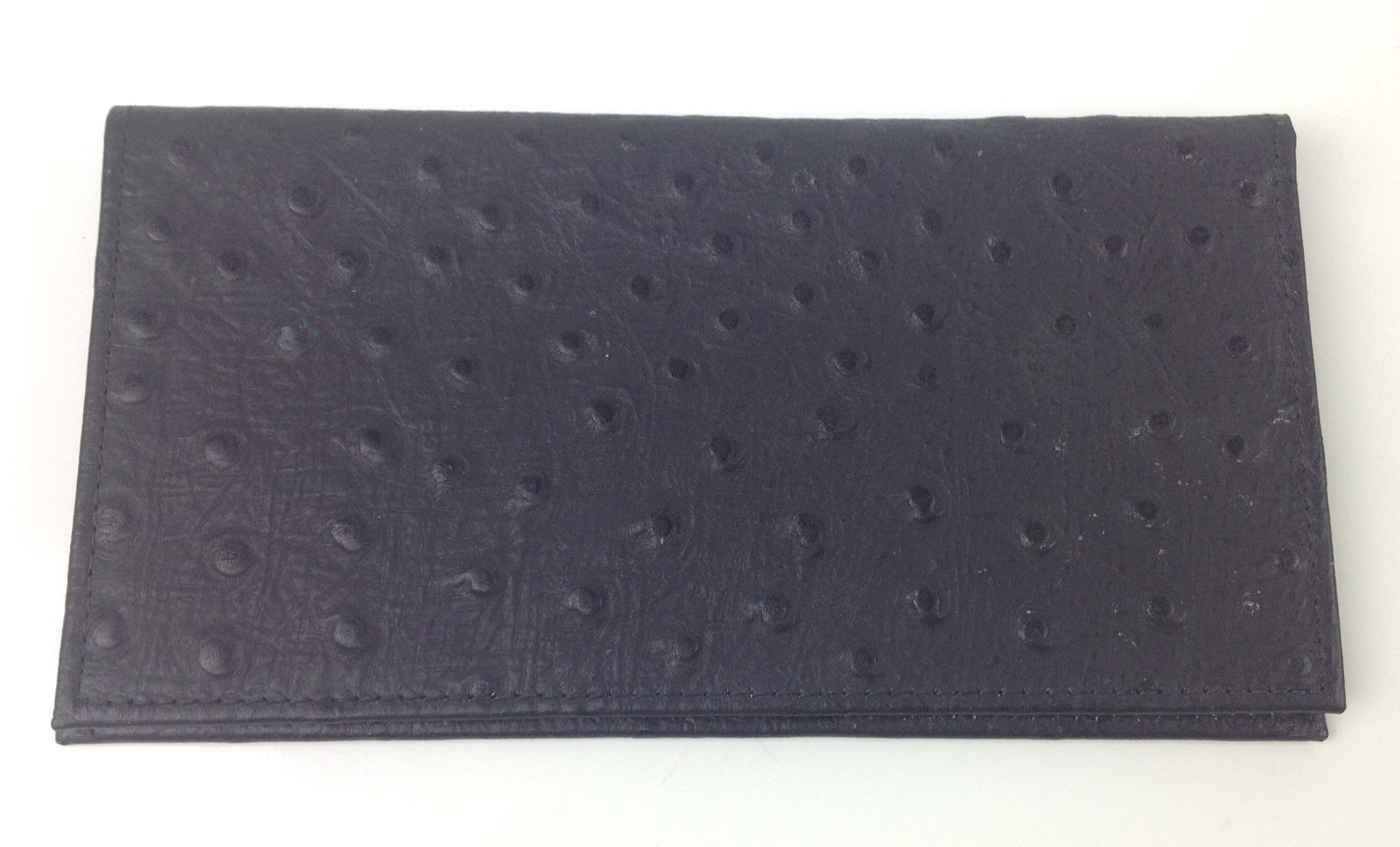 Primary image for Embossed Ostrich Cowhide Black Checkbook