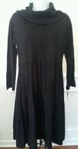 Calvin Klein Women Cowl Neck Long Sleeve Sweater Dress Black Sz M NWT MS... - $52.24