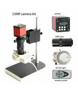 Industrial Microscope HDMI 13MP 60F/S HD VGA Camera+130X C Mount Lens + ... - $232.99+