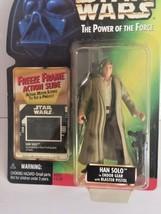 Star Wars Power of the Force POTF2 Freeze Frame Han Solo Endor Gear .02 CBP - $3.95