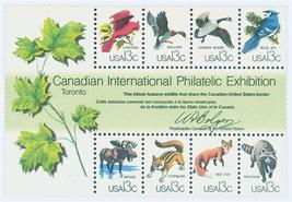 1978 CAPEX Wildlife Souvenir Sheet of 8 US Stamps Catalog Number 1757 MNH