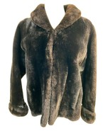 Ellisberg's Vintage Women's Faux Fur Short Coat, Brown Fits Size S - $62.69