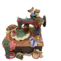 Mouse Music Box Sewing Machine Plays My Favorite Things Rotates - $39.59