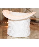 Vintage Fenton Top Hat White Milk Glass Daisy Button Design Dish PRESSED... - $27.99