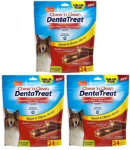 (3) Hartz Chew 'n Clean DentaTreat Dog Treat Medium - Large 24 count - $24.34