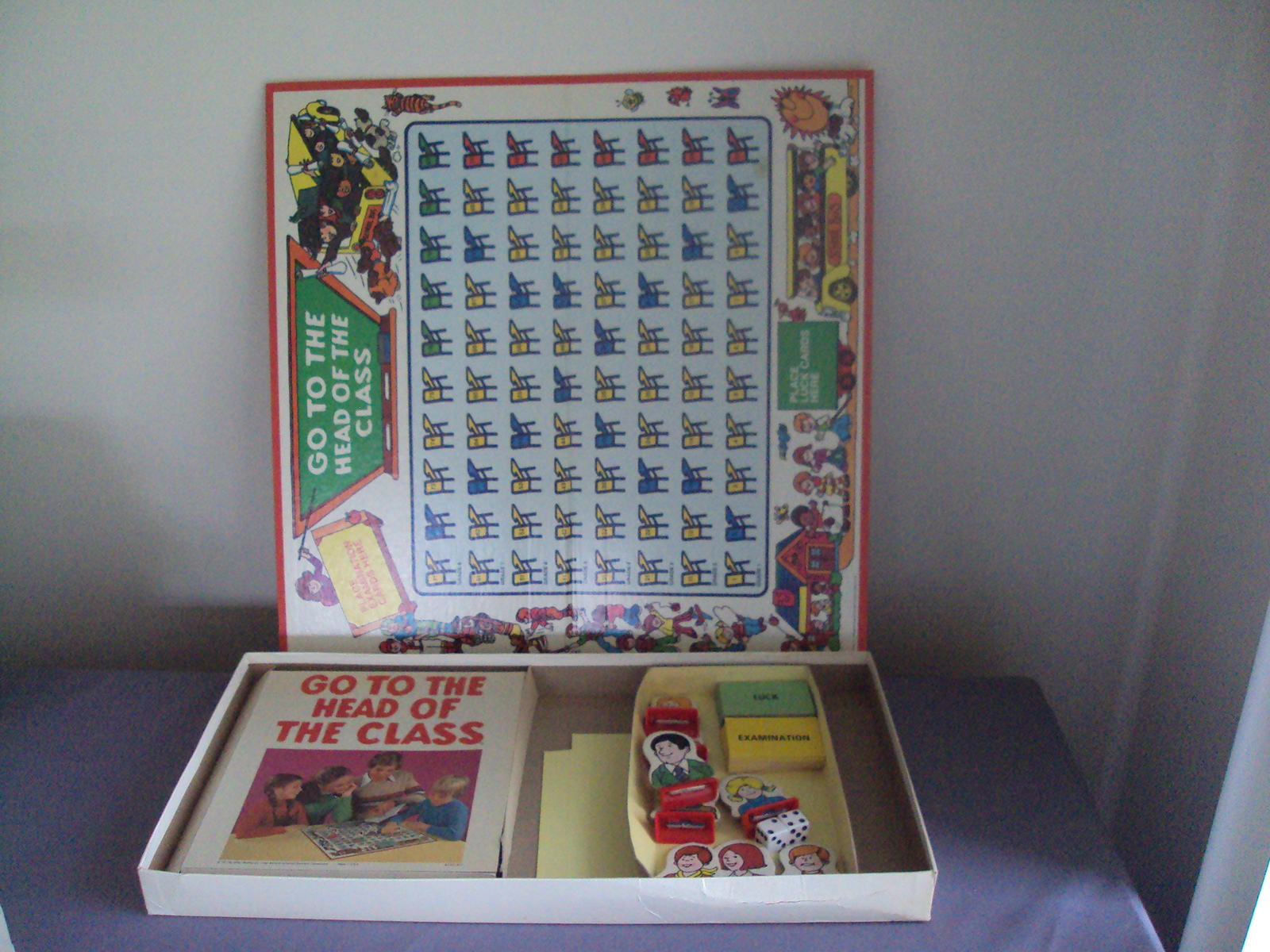 Vintage Board Game Go To The Head Of The Class 1978 Complete