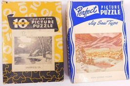 Two Vintage Jigsaw Puzzles - $9.77