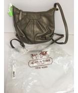 Coach Crossbody Bag  Ashley F46872 Metallic Pleated Steel Gray B3 - $94.04