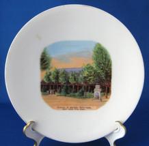 Souvenir Plate Mormon Tabernacle Salt Lake 1890s German Hand Colored Vic... - $14.00
