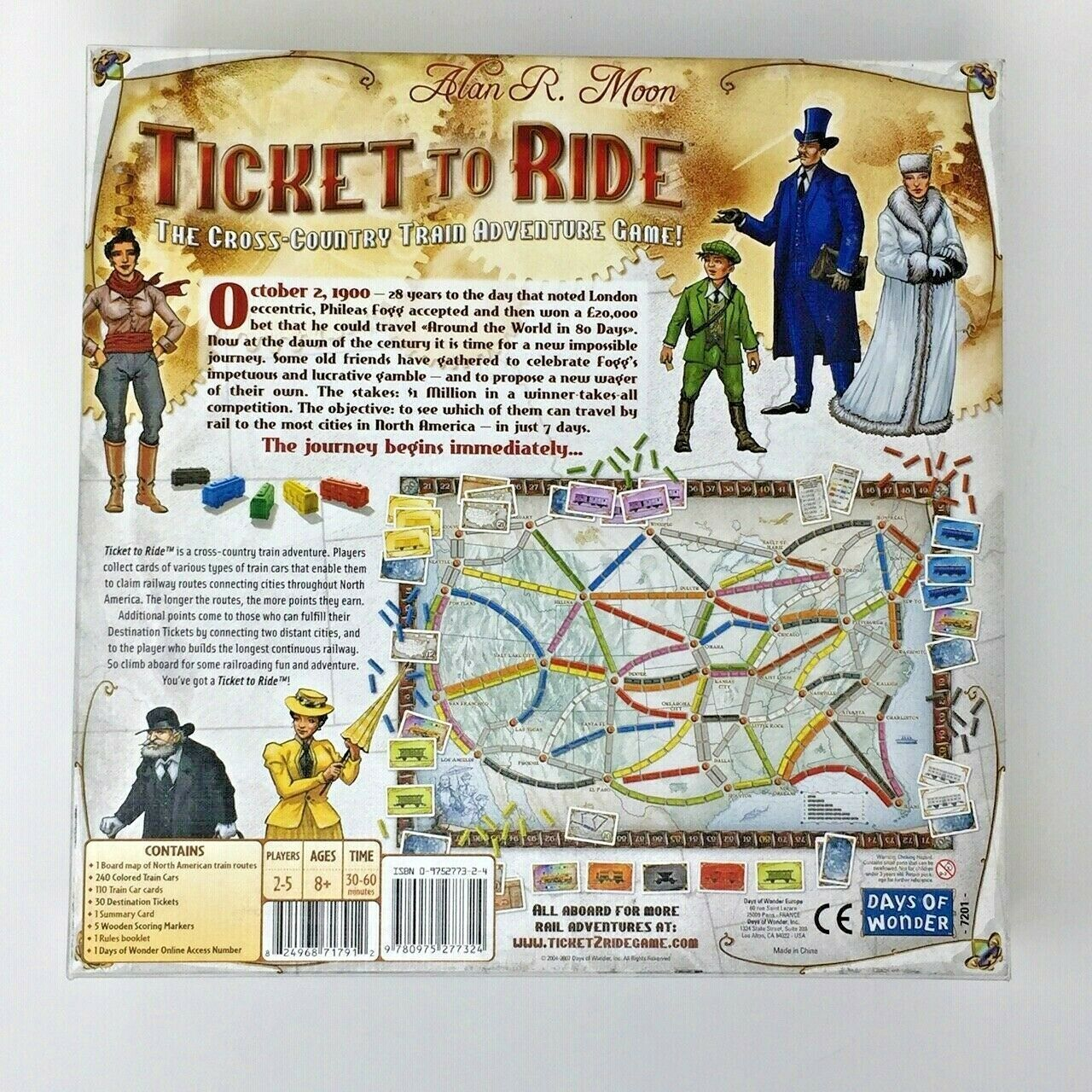 Ticket to Ride Train Adventure Cooperative Board Game Multiplayer Days of Wonder