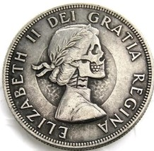 New Rare New Hobo Nickel 1962 Canadian Dollar Skull Skeleton Casted Quee... - $11.39