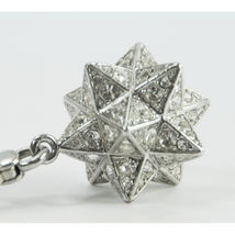 Juicy Couture Silver Crystal Large Moroccan Star FULL SIZE Bracelet Charm RARE image 5