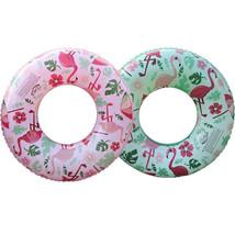 YhsBUY® 60/70/80/90cm Floral Print Flamingo Swimming Circle Swim Tube Ra... - $17.60+