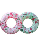 YhsBUY® 60/70/80/90cm Floral Print Flamingo Swimming Circle Swim Tube Ra... - $17.23+