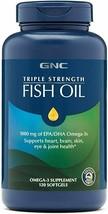 GNC Triple Strength Fish Oil 1000 mg of EPA/DHA Omega-3 - 120 softgels - $27.10