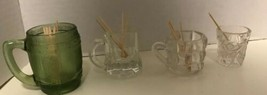 Set of 4 Mini Mugs / Shot Glass / Toothpick Holder Hazel Atlas Federal 1... - $15.88