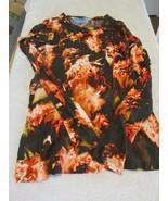 Simply Vera- Vera Wang Black FIreprint XS Long Sleeve Shirt - $7.99