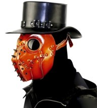 Halloween Devil Ghost Face Mask Leather Grimace Cosplay Steampunk Plague... - £43.26 GBP