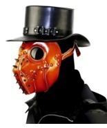 Halloween Devil Ghost Face Mask Leather Grimace Cosplay Steampunk Plague... - $55.95