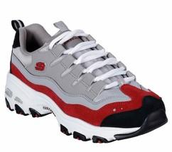 Skechers Dlites Gray Red shoes Women Sport Memory Foam Casual Comfort So... - $49.79