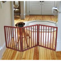 Extra Wide Pet Gate - Freestanding Dog Gate - Indoor Pet Fence - $38.69