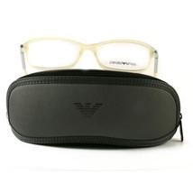 Emporio Armani EA3006F Eyeglasses 5082 Beige Full Rim Plastic 53 15 135 - $57.00