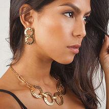 "Ultra Glam Karine Sultan ""Katy"" 4-Row Gold Textured Metal Statement Cuff image 7"