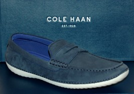 Cole Haan Motogrand Penny Navy Inc Nubuck Men's  Loafer Driving  Shoes  ... - $98.98