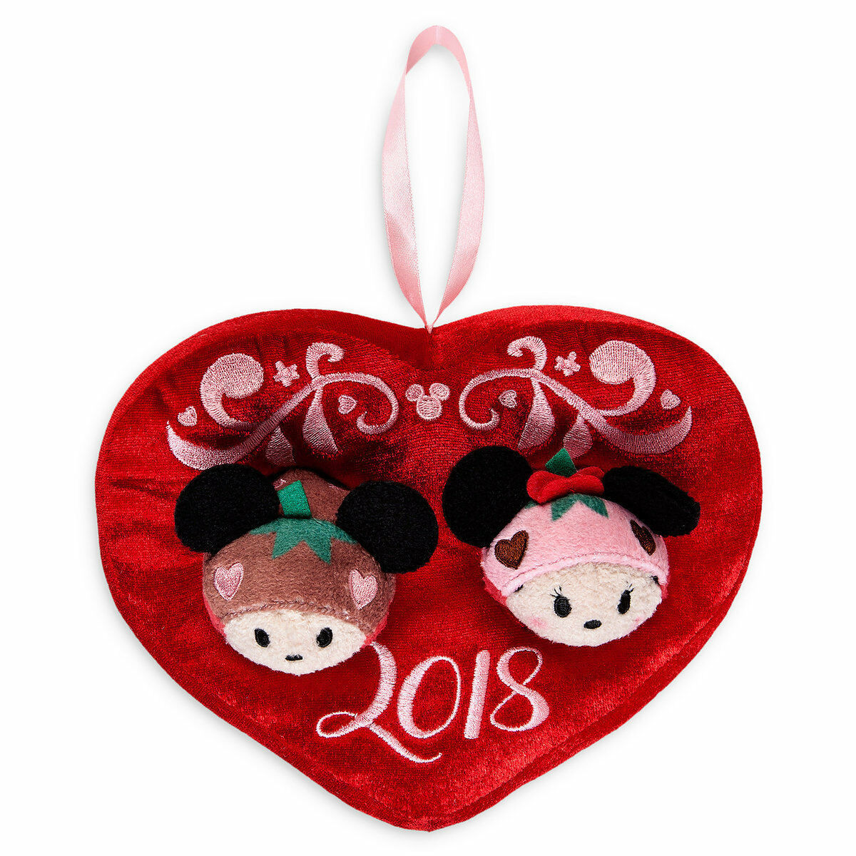 Disney 2018 Mickey & Minnie Scented Tsum Plush Set Valentine's Day New with Tags