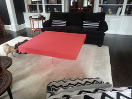 Acrylic coffee table - X based with Lucite box top - custom color available - €835,45 EUR