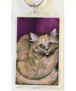 Large Cat Art Keychain - Martha - $8.00