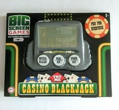 NEW Casino Blackjack Handheld Game, Big Screen Games - Family Travel Roadtrip - $13.23