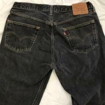 Vintage Levi's Black 501 W36 x L26 (shortened) Button Fly Jeans Pants Co... - $68.31