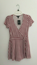 Forever 21 Red Plaid Romper sz Medium New NWT - $11.87