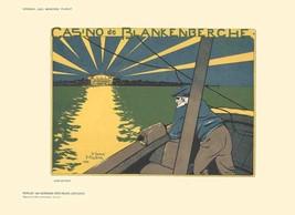 "HENRI MEUNIER Casino de Blankenberche 8.25"" x 11.5"" Lithograph 1897 Vintage - $148.50"