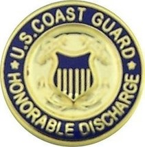 COAST GUARD HONORABLE DISCHARGE LAPEL USCG  PIN - $13.53
