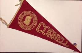 1920's Cornell University Big Red Bears Ithaca NY Ivy League Pennant 14.... - $98.95