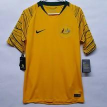 New Nike Australia Gold Cup 2018 Home Stadium Football Mens Sz S Jersey ... - $44.67